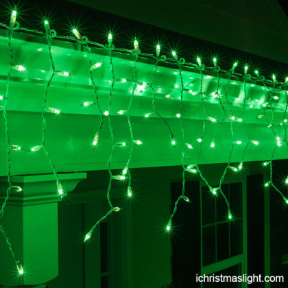 Decorative LED green icicle lights supply