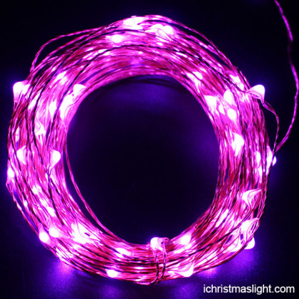 LED pink copper christmas garden lights