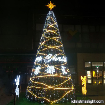 Outdoor christmas trees with lights for sale