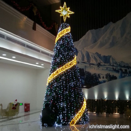Lighted Christmas trees made in China