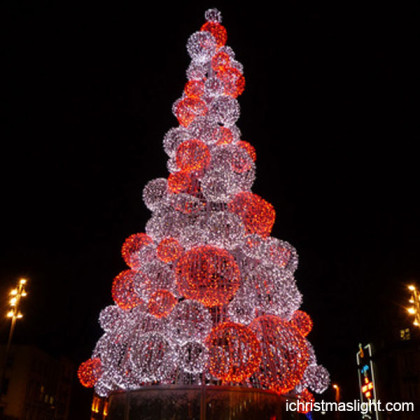 Outdoor christmas trees led ball tree