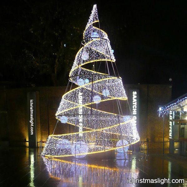 Big Christmas Tree Lights: Modern LED Spiral Large Christmas Trees