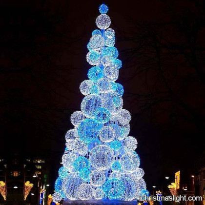 Blue and white ball unusual christmas trees