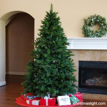 Indoor decorated artificial christmas trees