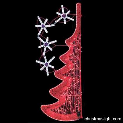 Street pole light up christmas decorations