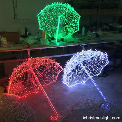 Christmas party decor LED motif umbrella