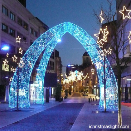 Christmas outdoor decor LED lighted arch