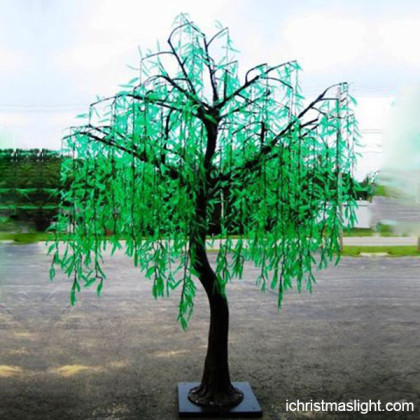 LED artificial tree lighted willow supplier