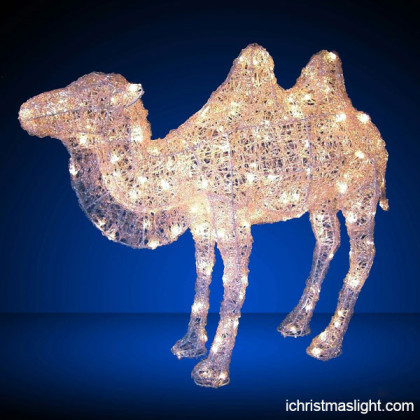 Decorative lighted acrylic camel figurine