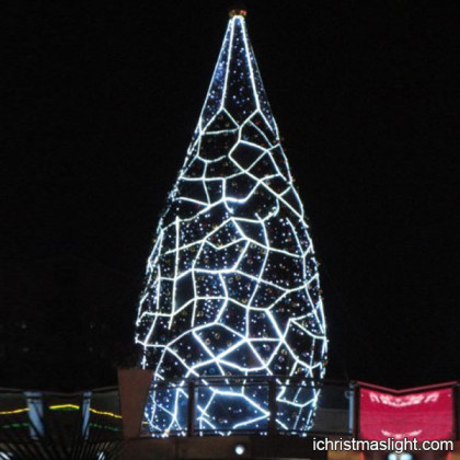 Unique christmas tree with LED decorated