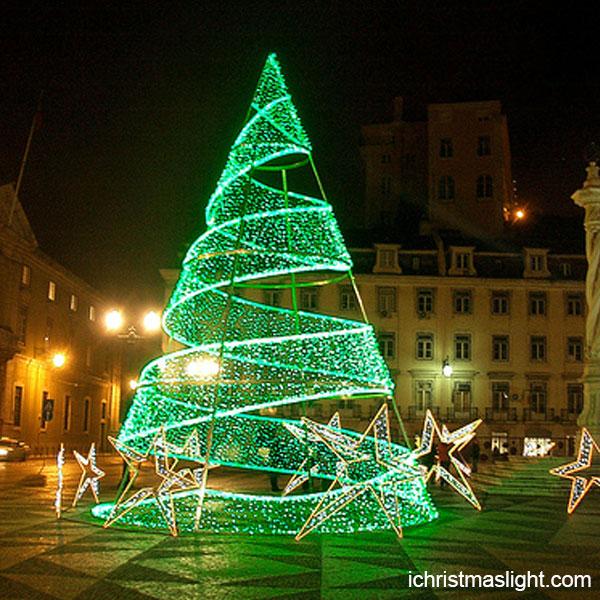 Christmas Outdoor Led Spiral Christmas Trees Ichristmaslight