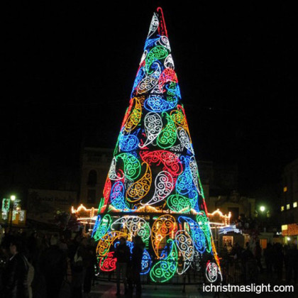 Creative LED big colored christmas trees