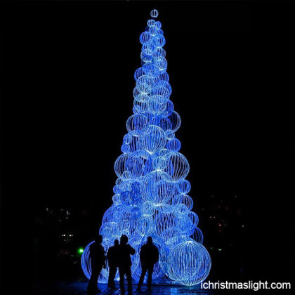 Christmas theme blue lighted christmas tree
