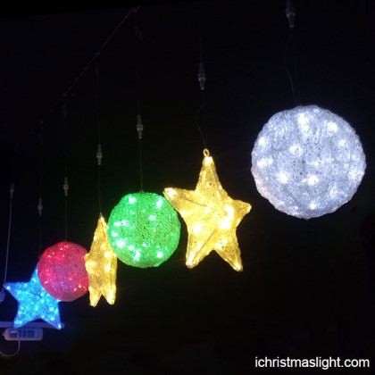 Christmas indoor decorations stars and balls