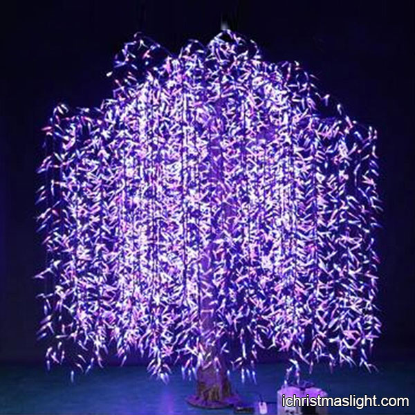 Purple Led Tree Artificial Lighted Willow Ichristmaslight