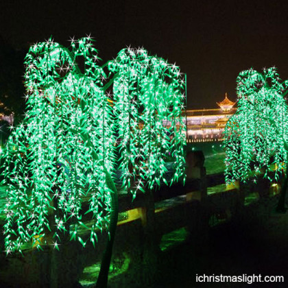 Outdoor Xmas decorating LED willow lights