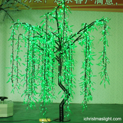 Popular LED lighted willow trees in China