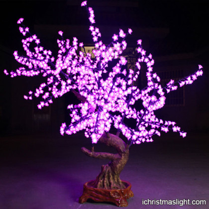 Indoor LED lighted cherry flowering trees