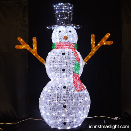 Christmas lawn decorations LED snowman