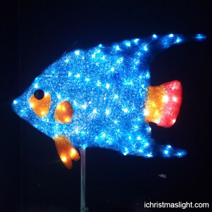 Shop window display decorative lighted fish