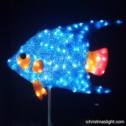 Shop window display decorative lighted fish