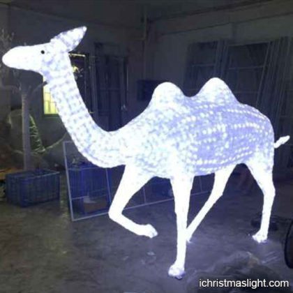Holiday light displays LED camel sculpture