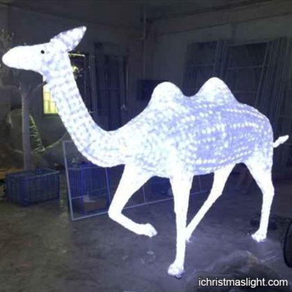 Holiday light displays LED camel sculpture