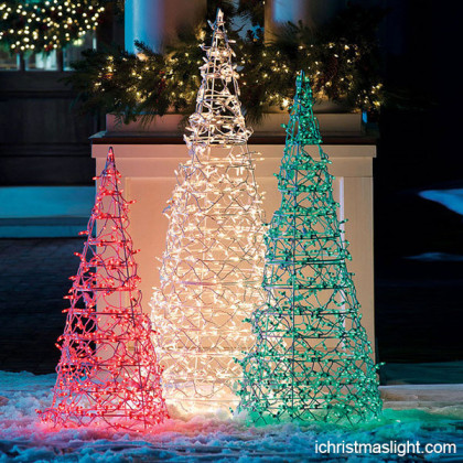 Commercial Christmas decor LED light trees
