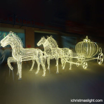 Event decorative outside LED horse carriage