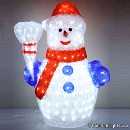 Xmas outdoor lighted snowman decorations