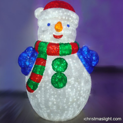 Holiday lighted snowman outdoor decorations