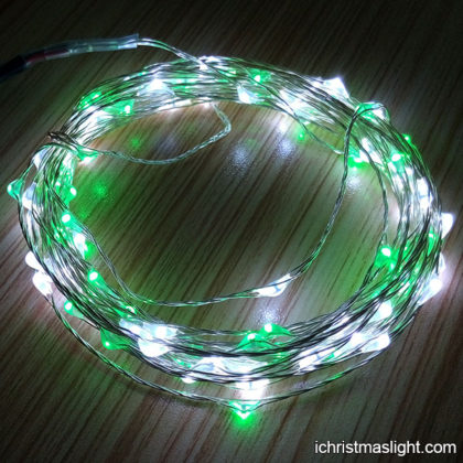 Green and white Xmas outdoor fairy lights