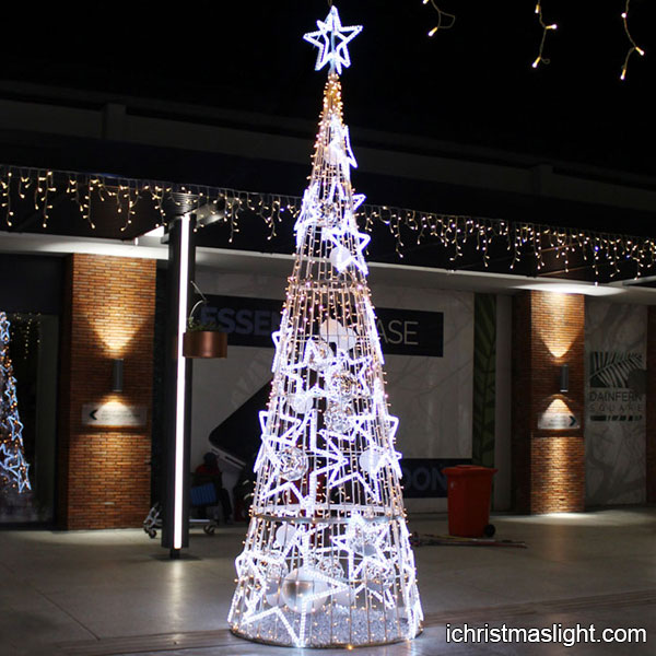 unique lighted star cone christmas trees
