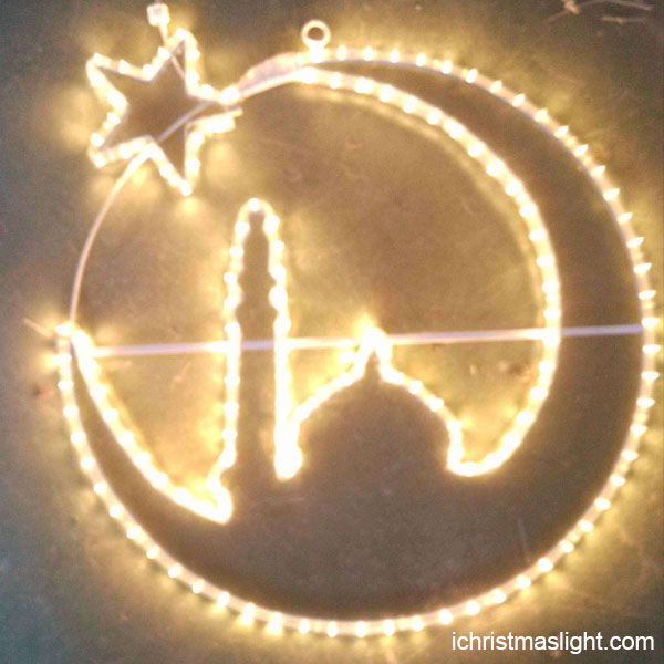 Ramadan motif lighted arabic decorations