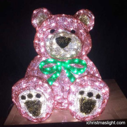 Holiday decorative acrylic light teddy bear