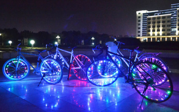 why bike wheel lights become popular