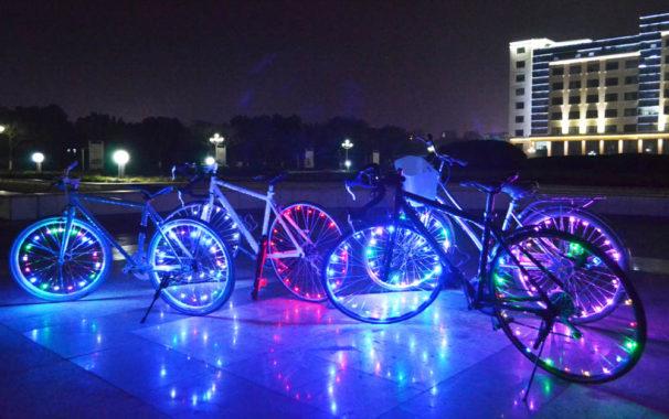 why bike wheel lights become popular