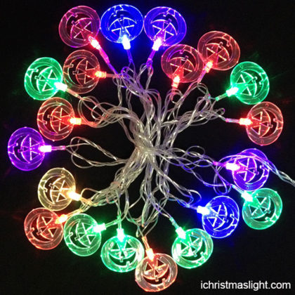 Halloween lights LED pumpkin string lights