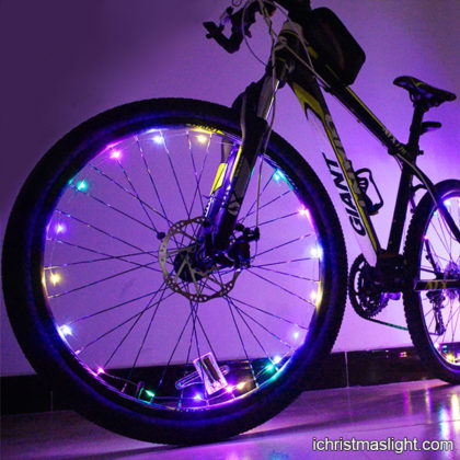 LED bike wheel lights copper wire lights