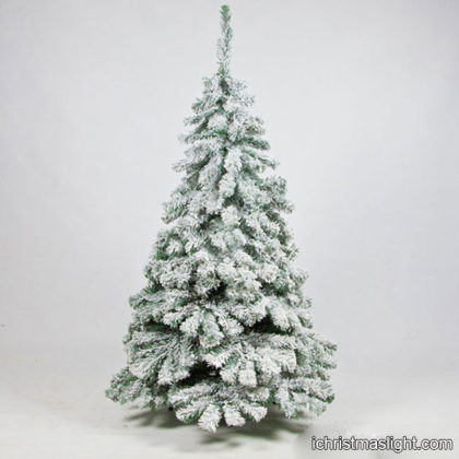 White Christmas tree with LED string light
