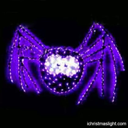 Halloween lighted decorations purple spider