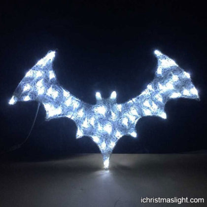 2D acrylic white LED bat Halloween lights