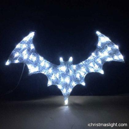 2D acrylic white LED bat Halloween lights