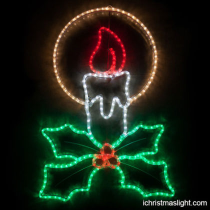 Christmas candle decorations motif lights