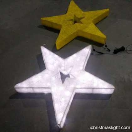 White acrylic LED Christmas star wholesale