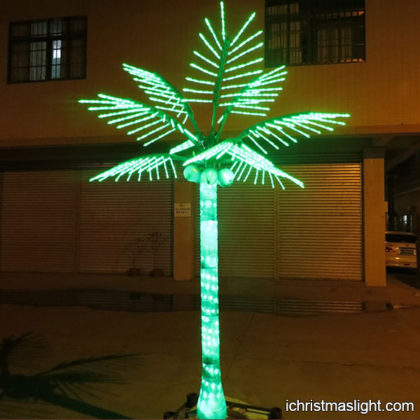 Outdoor lit trees LED coconut tree wholesale