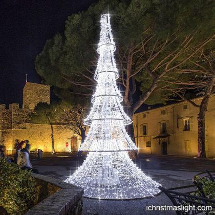 White LED light large christmas ornaments