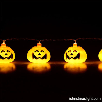 Decorative Halloween pumpkin string lights