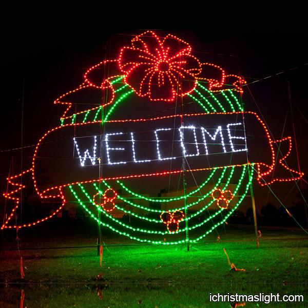 Christmas Light Decoration For Park Entrance