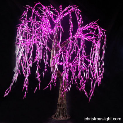 Purple led lights artificial LED willow trees